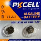 PKCell AG5 393 LR48 SR754 G5 2 Pce ALKALINE BUTTON CELL BATTERY