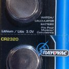 2- CR 2320 Rayovac LITHIUM BATTERIES 3V Watch