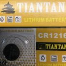 1 Pc 3V CR1216 Tiantan Lithium Button Cell Battery Remote
