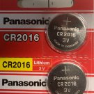 2 Panasonic CR2016 Battery 3V