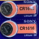 2-Sony 1616 CR1616 BR1616 ECR1616 5021LC Lithium 2 Batteries