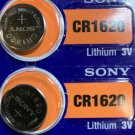 2-Sony CR1620 LITHIUM BATTERY 3V