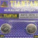 AG13 Tiantan SR44 LR44 303 A76 357 1.5V Alkaline batteries 2 Qt.