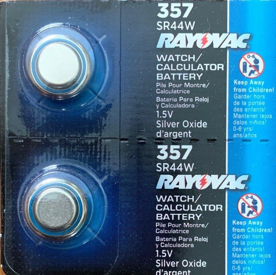 2 - 357 Rayovac 2 Qt. 303 SR44 LR44 A76 357 1.5V Silver Oxide
