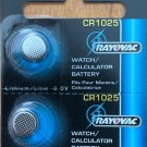 2-CR 1025 Rayovac Watch Battery