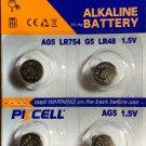 2-AG5 (4 Qt.) PKCell 393 LR48 SR754 G5 ALKALINE BUTTON CELL