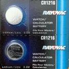 2-CR1216 Rayovac Lithium Batteries 2 Qt