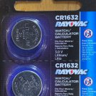 2- CR 1632 Rayovac LITHIUM BATTERIES 3V Watch