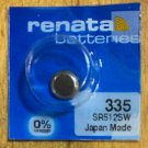 1-335 Renata SR512SW SR512 S60 1 Battery.