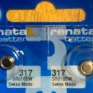2-317 Renata SR516SW, V317, D317, 616, 2 Batteries