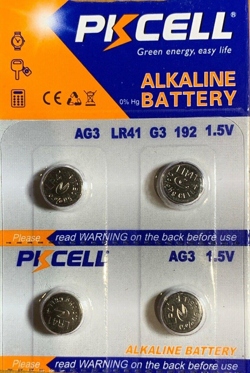 2 - AG3 (4 Qt.) PKCell 384 392 LR41 SR41 battery /batteries