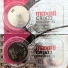 2-Maxell 1632 CR1632 ECR1632 Lithium 2 Batteries