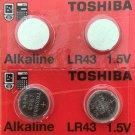2-LR43 Toshiba-4 Qt AG12 LR1142 386 1.5V Battery Watch