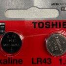 LR43 Toshiba-2.Qt AG12 LR1142 386 1.5V Battery Watch Remote