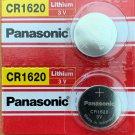 2- CR1620 PANASONIC LITHIUM BATTERIES 3V