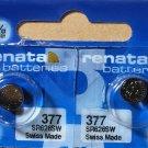 2-Renata 377 Battery SR626SW Silver Oxide