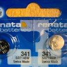 2-341 Renata SR714SW V341 D341 E341 2 Batteries