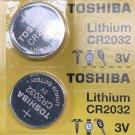 2- Toshiba CR2032 Watch Battery ECR2032 DL2032
