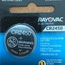 CR 2450 Rayovac 1-Qt. LITHIUM BATTERIES 3V Watch