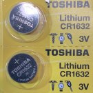 2- Toshiba CR1632- CR 1632 DL1632 BR1632 3 Volt Lithium battery