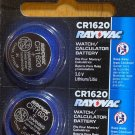2- CR 1620 Rayovac LITHIUM BATTERIES 3V Watch