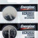 2-Energizer CR2032 ECR2032 DL2032 battery batteries