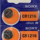 2- Sony CR1216 Lithium Button Cell Battery
