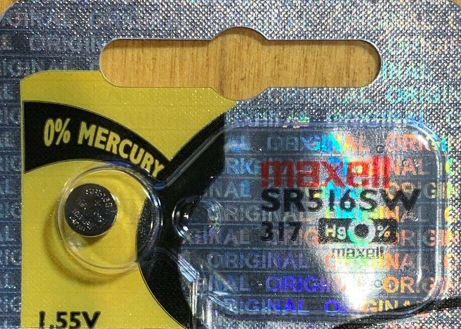 Maxell 317, SR516SW, SP317, V317, D317, 616, 1 pce battery