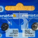 2-315 Renata Batteries SR67 SR716 V315 SP315 GP315