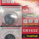 2- CR1632 TIANTAN DL1632 BR1632 3 Volt Lithium batteries battery