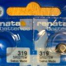 2-319 Renata SR527SW V319 SR64 D319 2 Batteries