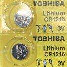 2- Toshiba CR1216 Lithium Button Cell Battery