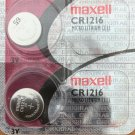 2- Maxell CR1216 Lithium Button Cell Battery