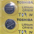 2- Toshiba 1616 CR1616 BR1616 ECR1616 5021LC Lithium Battery