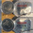 2- Maxell 2025 2 Qt ECR2025 DL2025  battery batteries