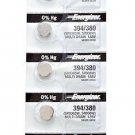 5 Energizer 394/380 SR936SW 5Qt. Batteries