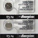 5 Energizer 395/399 SR927SW AG7 5 Qt Batteries