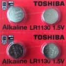 2 - Toshiba LR1130 AG10 189 1130 LR54 Battery