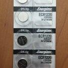 5- Energizer 1220 CR1220 ECR1220 batteries battery