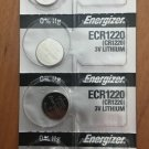 4-Energizer 1220 CR1220 ECR1220  battery batteries