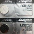 2-ENERGIZER 1220 CR1220 CR 1220 DL1220 BR1220 batteries battery