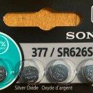 4-SONY 377 New Packaging! SR626SW Silver Oxide 1.55V batteries