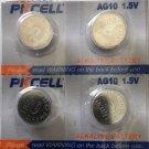 2-PKCell AG10 LR1130 LR54 SR1130 SR1130W Alkaline Battery