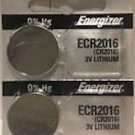 2-Energizer 2016 ECR2016 CR2016 BR2016 Lithium battery