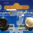 2-Renata LR44 Batteries, , Alkaline A76 357 AG13 battery
