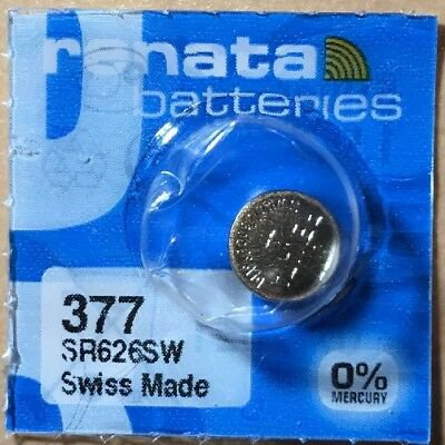 1 - Renata 377 Battery SR626SW Silver Oxide