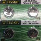 2-AG10 (4Qt.) Tianqiu LR1130 LR54 SR1130 SR1130W batteries