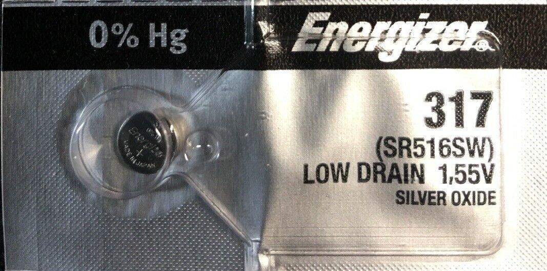 Energizer 317, SR516SW, SP317, V317, D317, 616, 1 pce Battery