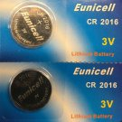 2 - CR2016 Eunicell 2-QT 2016 SV DL2016 LM2016 BR2016 L2016  batttery