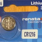 1-Renata CR1216 DL1216 ECR1216 Battery